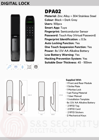 tenon-pushpull-smart-lock-dpa02-fingerprint-card-password-key-bluetooth-wifi-optional-big-2