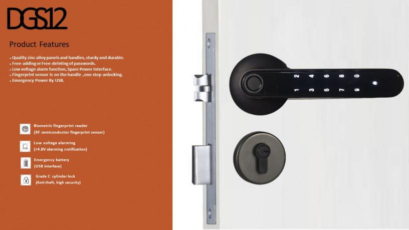 tenon-smart-gate-lock-fingerprint-password-bluetooth-key-wifi-optional-big-1