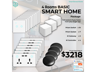 4 Rooms Smart Home Basic Package